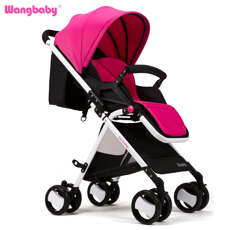 Wangbaby high landscape baby stroller can sit lying ultra portable folding umbrella car summer baby baby stroller(China (Mainland))