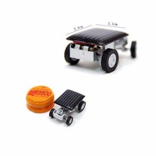 Smallest Mini Car Solar Powered Toy Car New Mini Children Solar Toy Gift Freeshipping FCI#(China (Mainland))