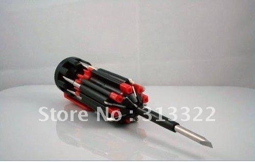 Free Shipp: 8 in 1 Multifunction Screw Driver With LED Light,Phillips and Slotted Screwdriver(China (Mainland))