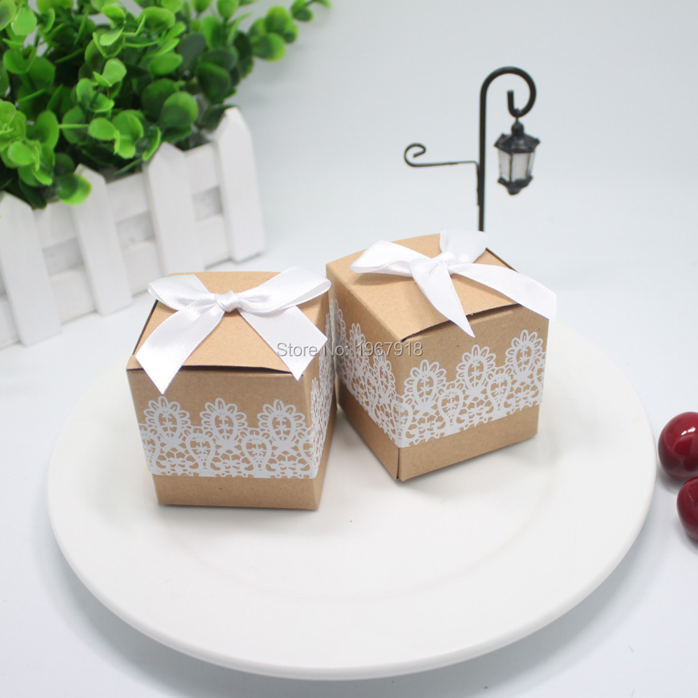 20pcs/lot 4 Styles Nature Kraft Paper Wedding Favor Gift Box Baby Shower Birthday Party Candy Box Christmas Present Gift Boxes(China (Mainland))