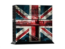 Play 4 PS4 Skin 1 Set Retro British Flag Skins For play station 4 Sticker Decal Cover + 2 Controller Sticker ps4 accessories