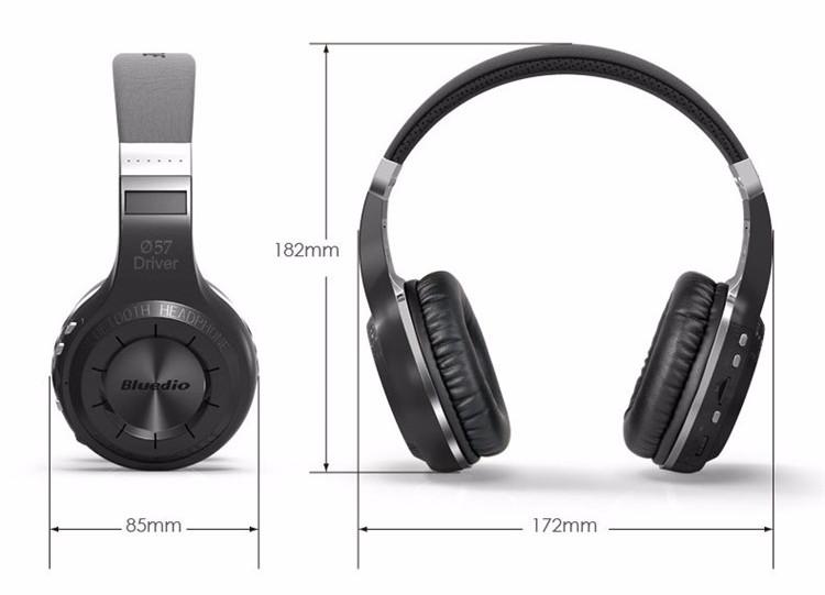 New Bluedio H+ Best Bluetooth 4.1 Head Phones Wireless Stereo Headset Portable Headphones Built-in Mic Micro-SD/FM Radio