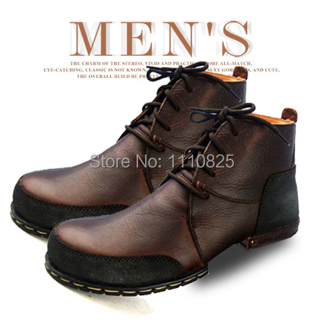 Фотография Martin genuine leather shoes Superior quality Full Grain Leather Western boots Men