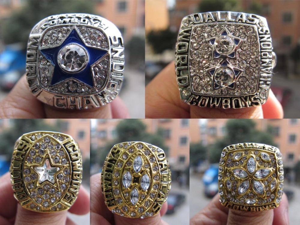 Free shipping Fashion sport ring 1971 1977 1992 1993 1995 DALLAS COWBOYS Super Bowl Championship Ring Five Together Fan Gift<br><br>Aliexpress