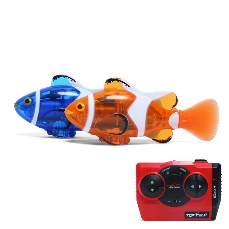 Create Toys 3316 Mini RC Clownfish Remote Control Infrared Fish Radio Toy Blue Orange<br><br>Aliexpress