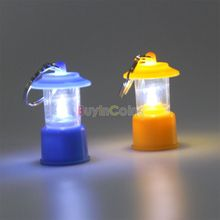 Mini Portable LED Camping Tent Lantern Light Emergency Keychain Night Lamp CFEG #68816(China (Mainland))