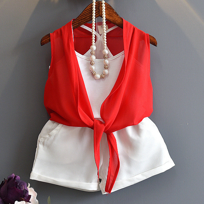 Girl'S Clothes In The Summer Of 2017 Style Fashion Style Children Dress Smock + White Vest + Shorts Set 3 Pc Children'S Clothing(China (Mainland))
