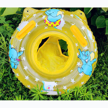1PCS Lovely Soft Inflatable Children Swimming Ring Handles Baby Toddler Safety Aid Blue/Light Pink Float Seat Swim Ring(China (Mainland))