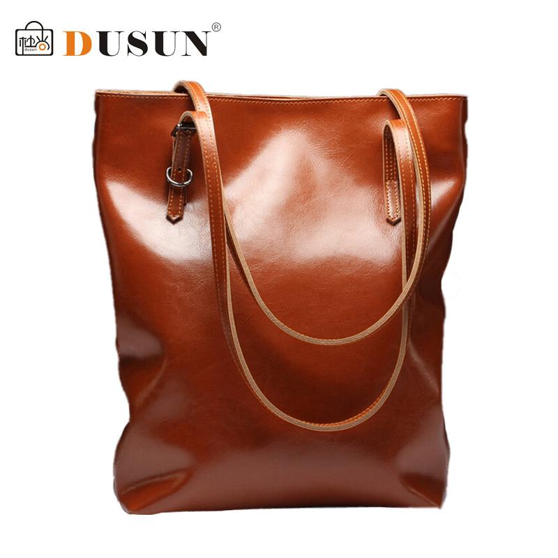 DUSUN Genuine Leather Handbags Simple Retro Shoulder Bag 2015 Women r Bags Ladies Big Capacity Handbag