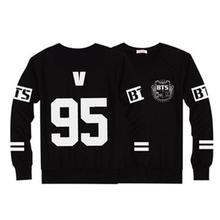 Kpop BTS Bangtan Boys Hoodie Black Sweatshirt Suit Long Sleeve Hoodies Men Hip Hop Clothing Winter Cool Men Hoody Sweatshirts