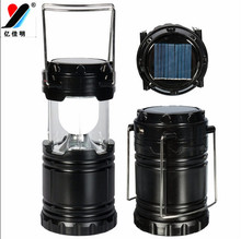 Solar Zoom Rechargeable LED Camping Lantern Lamp with Hooks YJM-G80 New Arrival Led Camping Equipment as Christmas Best Presents(China (Mainland))
