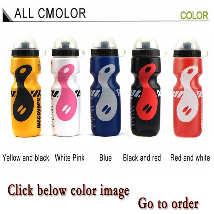 Portable Plastic Outdoor 750ml Mountain Bike Bicycle Cycling Sports Water Bottle Straw Lid black color - QINGZUI store