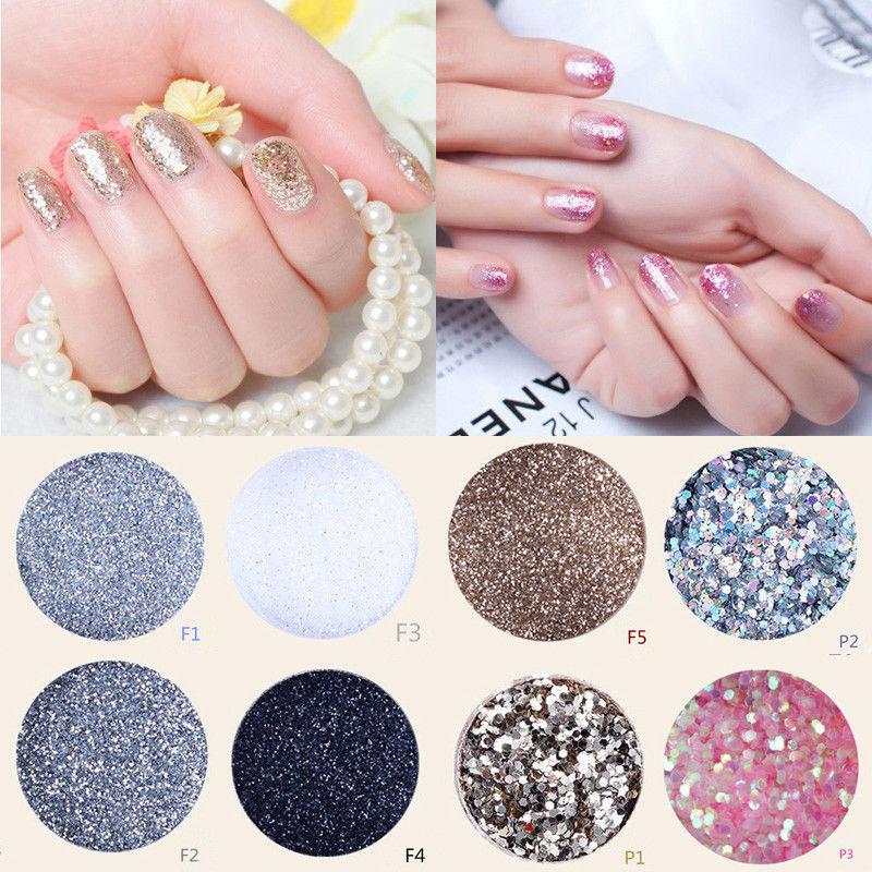 Hot Sail Fashional bling-bling Acrylic UV Nail Art Glitter Powder Dust Tips Decoration(China (Mainland))
