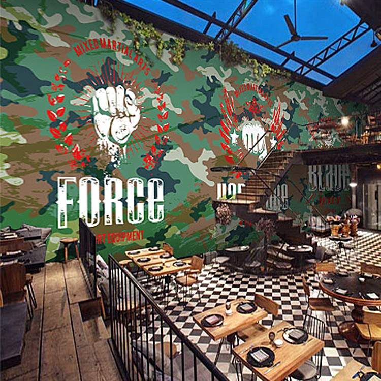 Online get cheap camouflage wallpaper - Table bar murale ...