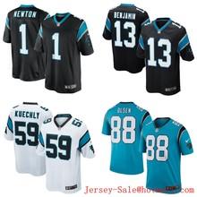 2016 Gioventu Carolina panthers, 59 # Luke Kuechly, #1 Cam Newton, nero bianco blu Bambini 100% cucita Logo e Il nome,(China (Mainland))