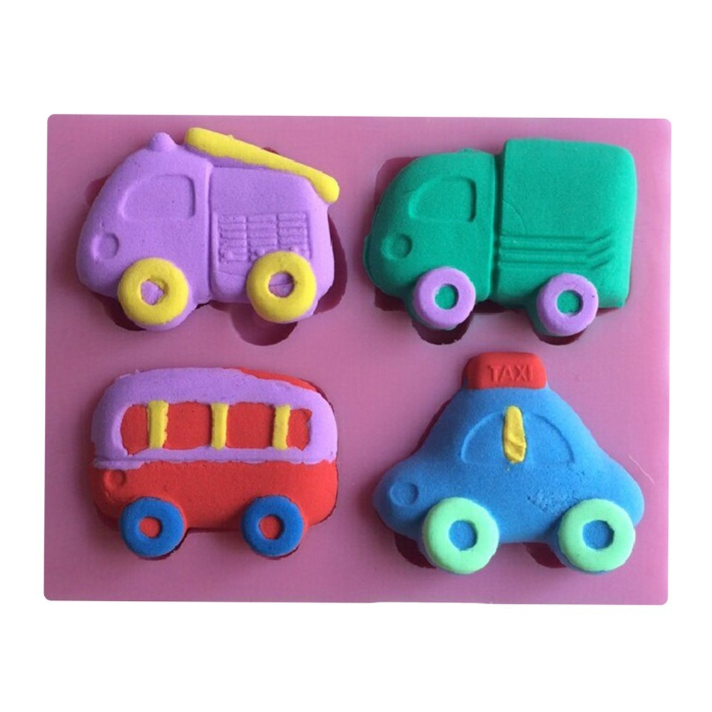 Lovely Bus And Truck And Taxi Shape Fondant Cake Molds Tools Decorating Cooking Tools-C381(China (Mainland))