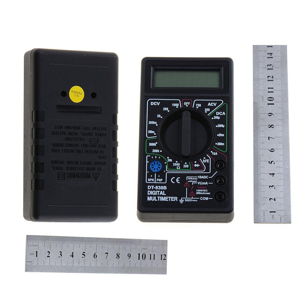 DT-838 Digital Multimeter Volt/ Amp/Ohm/Temperature Meter Vehicle Voltage Tester Tools Measuring Tool P34