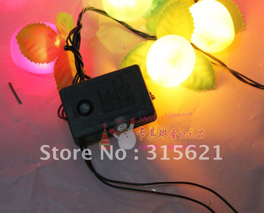 free shipping 3.7 meter 28pcs apple bulbs 220V colorful christmas lights strip(China (Mainland))