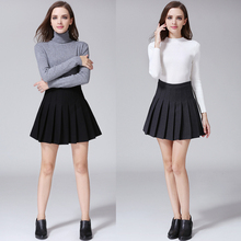 Buy Mini Skirt 2016 Spring Autumn Preppy Style Women Clothing High Waist Pleated Vintage Casual Knitted Mini Skirts Saia Woolen for $16.48 in AliExpress store