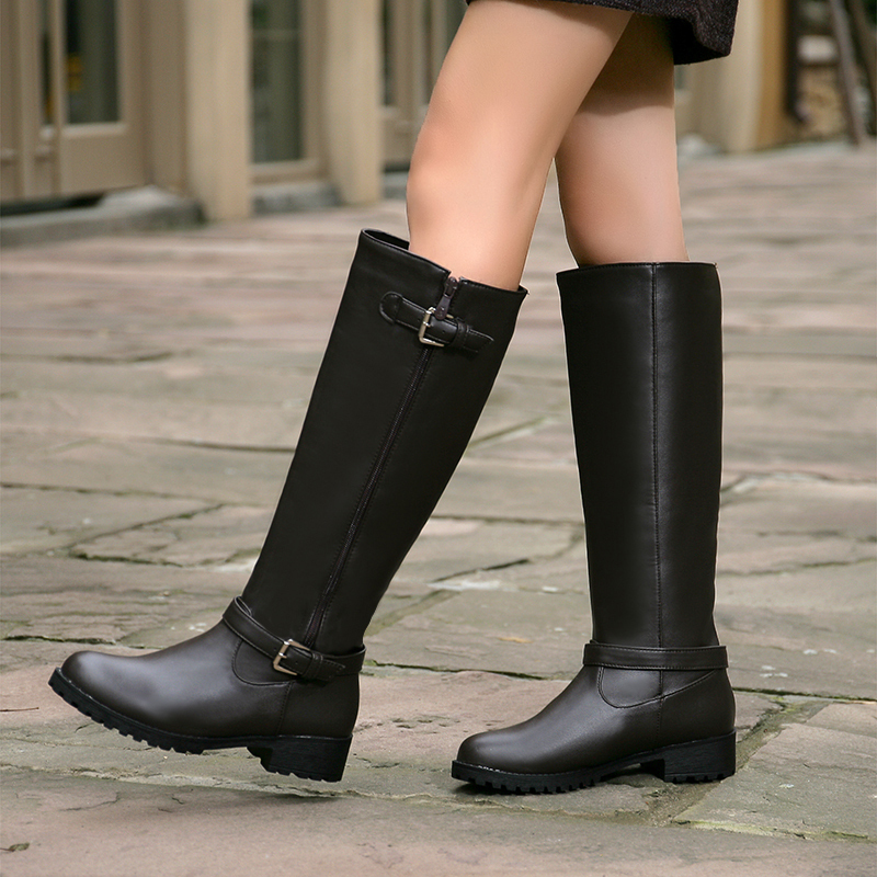 Black Riding Boots Women Yu Boots