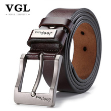 Buy VGL Designer Genuine Leather Strap Male Vintage Belt Men High Pin Buckle Mens Wide Casual Belt Jeans Cinto Masculino for $12.40 in AliExpress store