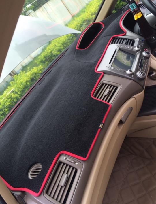 Carbon Fiber Trim Pillar Panel Cover Set for 2006-2010 Honda Civic 8th Gen. 6