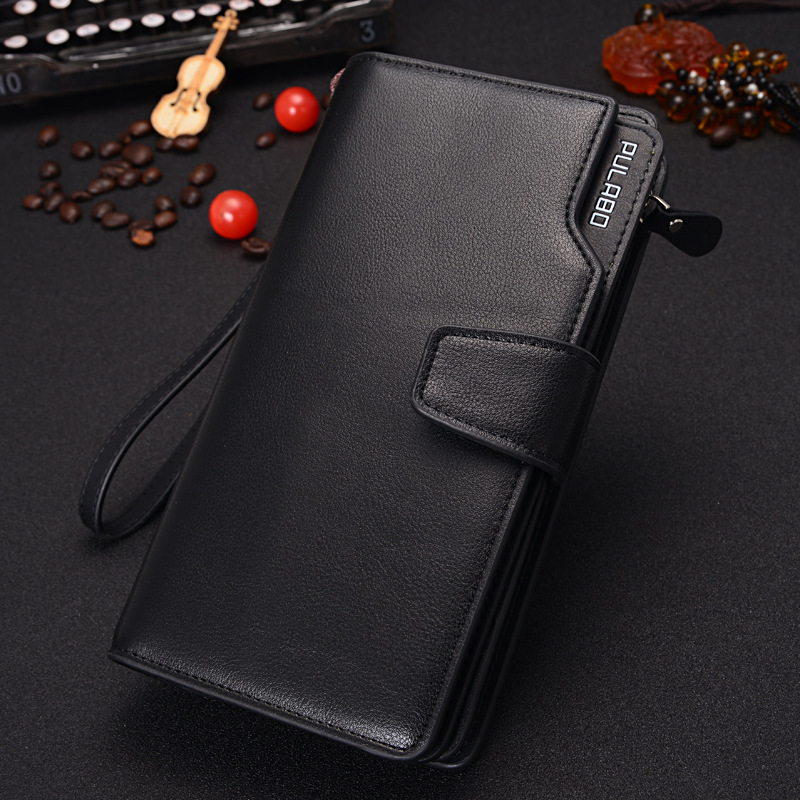 2015 Men's Leather Zipper Multiple Screens Of Large Capacity Handbag ,Authentic Business Purse Wallets long women wallet zipper(China (Mainland))