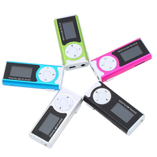 New Portable MP3 LCD Screen Metal Mini Clip MP3 Player Support Micro TF/SD Card Slot Music players 5QR3