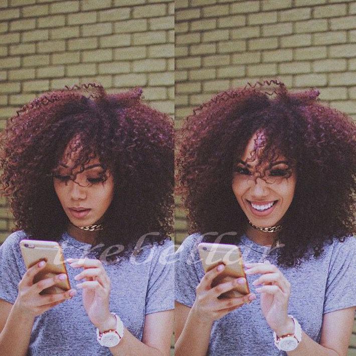Brazilian Virgin Hair Kinky Curly Wig Afro Kinky Curly Human Hair 99J Wig Full Lace Human Hair Wig With Baby Hair(China (Mainland))