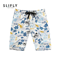 Mens Fast Dry Beach Shorts Casual Printed Thin Loose Board Short 2016 New Summer Flower Print