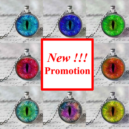 2015 New Fashion Personalized Picture Necklace Dragon Eye Necklace Dragon Eye Pendant Glass Art Picture Necklace(China (Mainland))