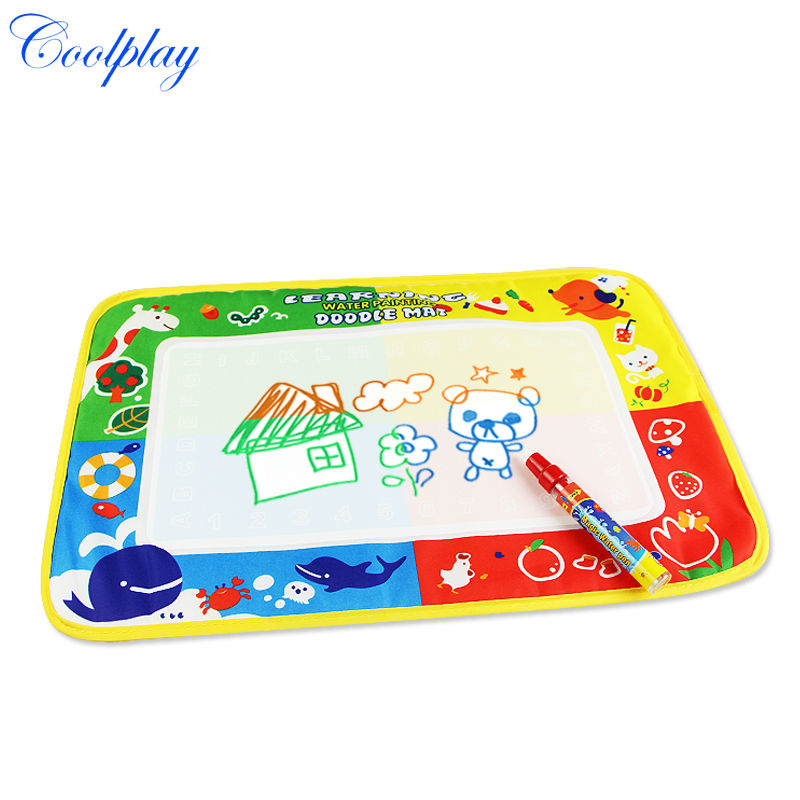 100pcs /Lots 46X30cm CP1367 Water Drawing Toys Mat Aquadoodle Mat&1 Magic Pen/Water Drawing Mat(China (Mainland))