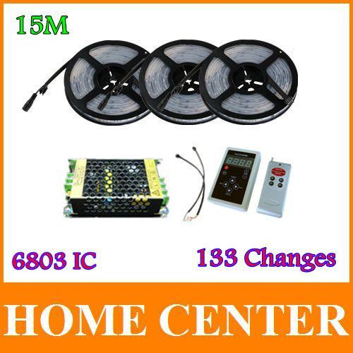 15M 5050 RGB Dream Color Magic 6803 IC LED Strip Light 133 Change RF Remote and 12V10A 120W Power<br><br>Aliexpress