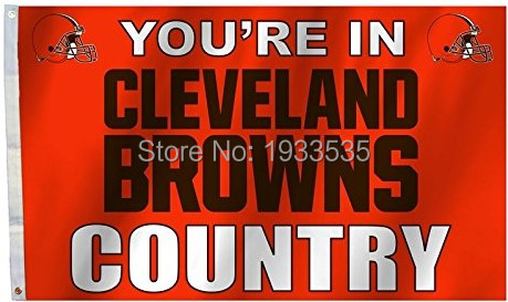 Cleveland Browns COUNTRY New Design 3x5 Flag w/grommets Outdoor House Banner NFL Football(China (Mainland))