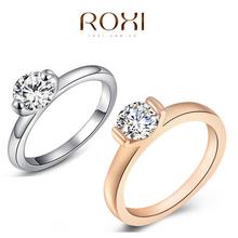 2015 Hot ROXI Ring Fashion Women Engagement Austrian Crystal 18K Rose Gold Plated Full Size Zircon Ring Wedding Bride Jewelry(China (Mainland))