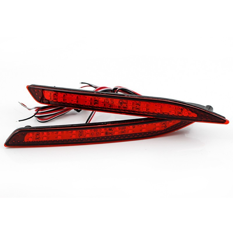 Honda Accord 9th LED Parking Warning Brake Tail Light LED Red Rear Bumper Reflector Lights