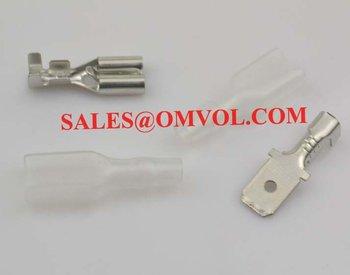 6.3mm Crimp Terminal Female Spade Connector +Male Spade Connector+ Case