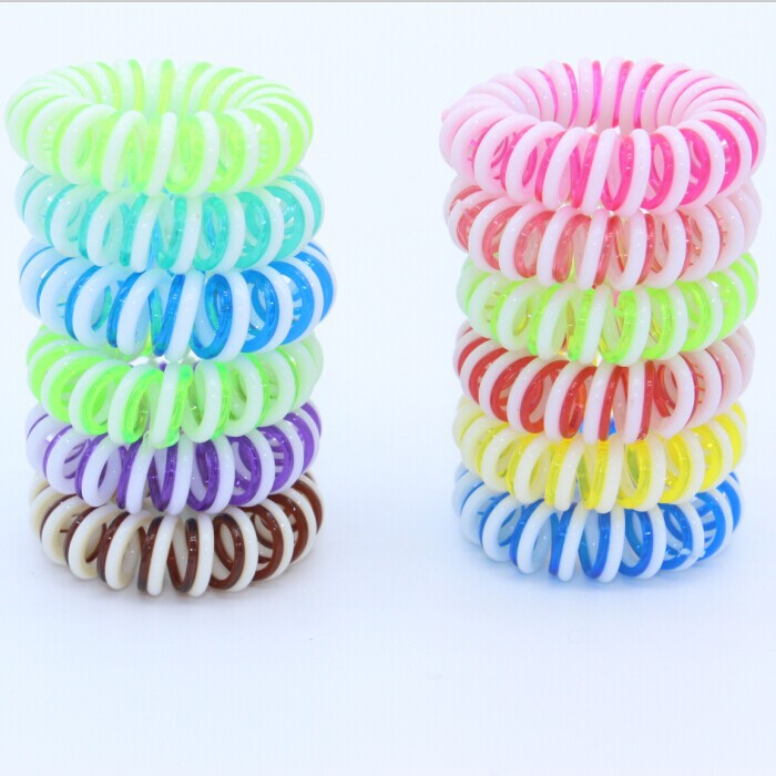 10pcs/lot Hair Accessories Elastic Hair Band Silicone Rubber Bands 35mm Girl Woman Headband Rope Ring Gum for Hair Drop shipping(China (Mainland))