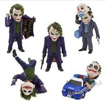 The Dark Knight Batman Clown Joker Mini Toy Figure Kids Doll 5pcs/set