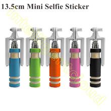 500PCS Super Supreme Mini Minimum Portable Wire Extendable Handheld Monopod Shutter Stick Timer For iPhone 6 Plus Samsung S6(China (Mainland))