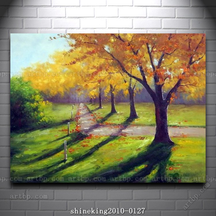 Handpainted Landscape oil painting Impressionist art canvas painting abstract canvas wall art blue items home interior(China (Mainland))