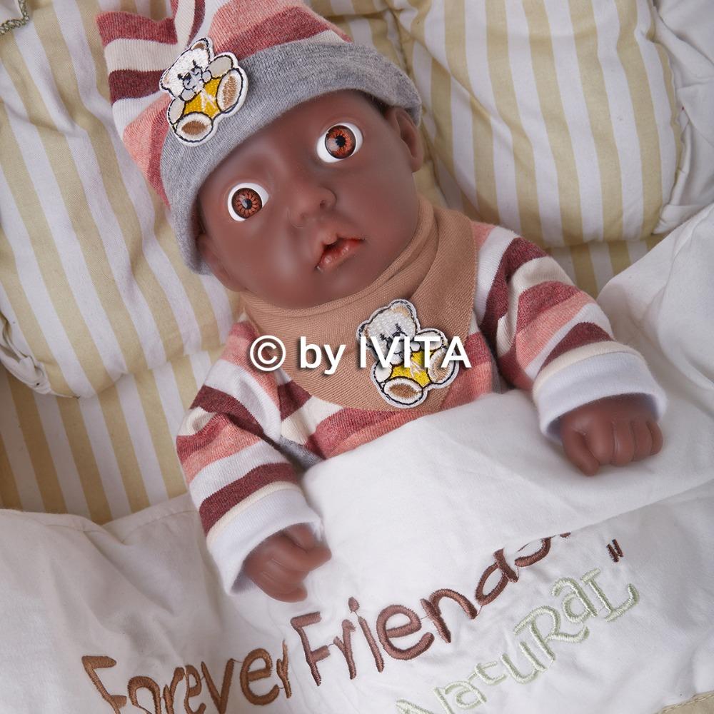 ivita african american girl lifelike baby dolls full body
