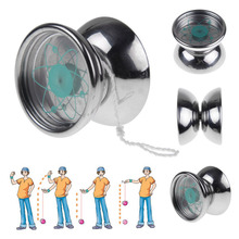 1  Professional 3 Bearing String Trick Stainless Steel Metal Toys Silver YoYo Yo-yo Ball 1-east(China (Mainland))