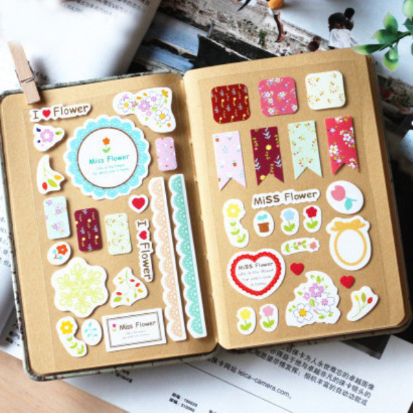3Sheets/Pack Sweet Lace Paper Decoration Decal Stickers Diy Scrapbooking Sealing Sticker Post It Kawaii Stationery H0343<br><br>Aliexpress