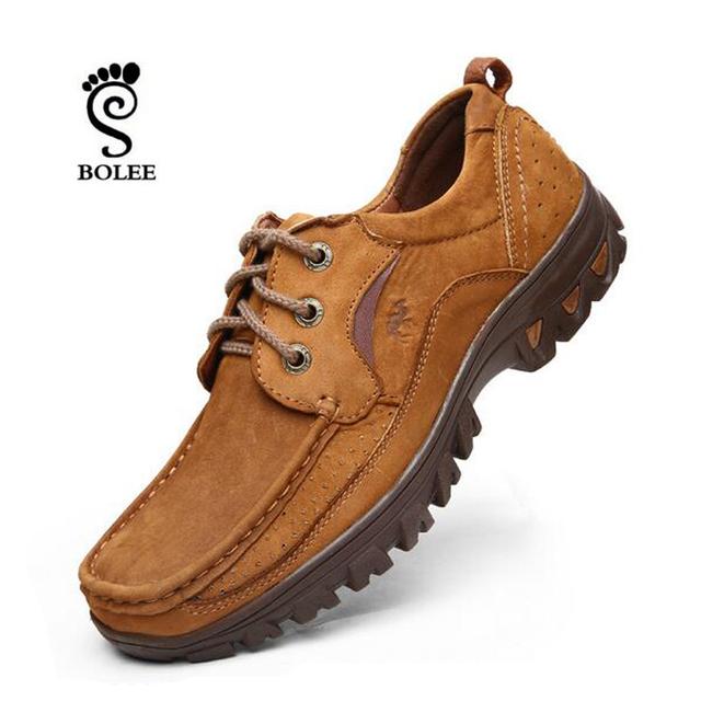 Натуральная кожа мужчины осень обувь, Мягкие кожаные ботинки, Осень старинные походные ...