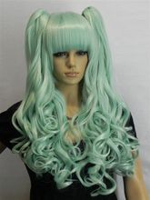 Heat Resistant Cosplay party TJ *****Cosplay wig V home early green wigs Two tigers mouth peruca hair queen lady's - meiyan gan's store