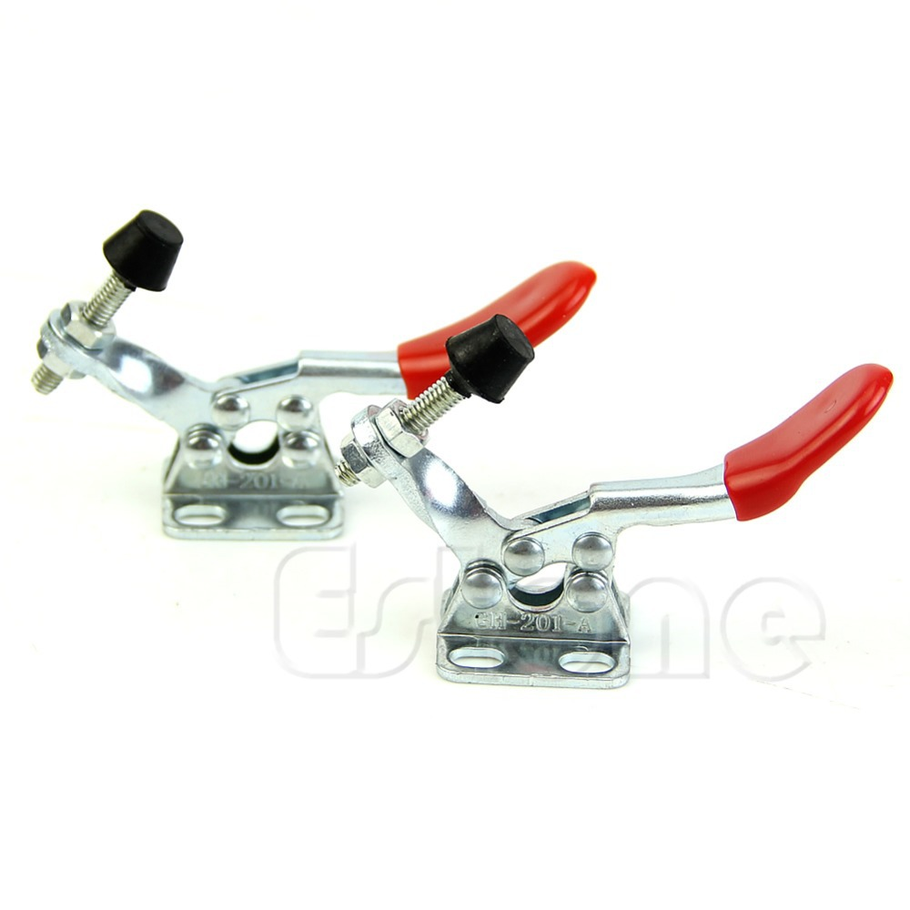 U119 Free Shipping 2Pcs Toggle Clamp GH 201A 201 A Horizontal Clamp Hand New Tool