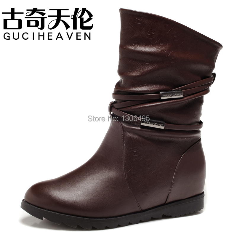 Classic Fashion Female Botas Elevator Women Boots Winter Women's Shoes Casual Elevator Boots Warm Cotton Shoes(China (Mainland))