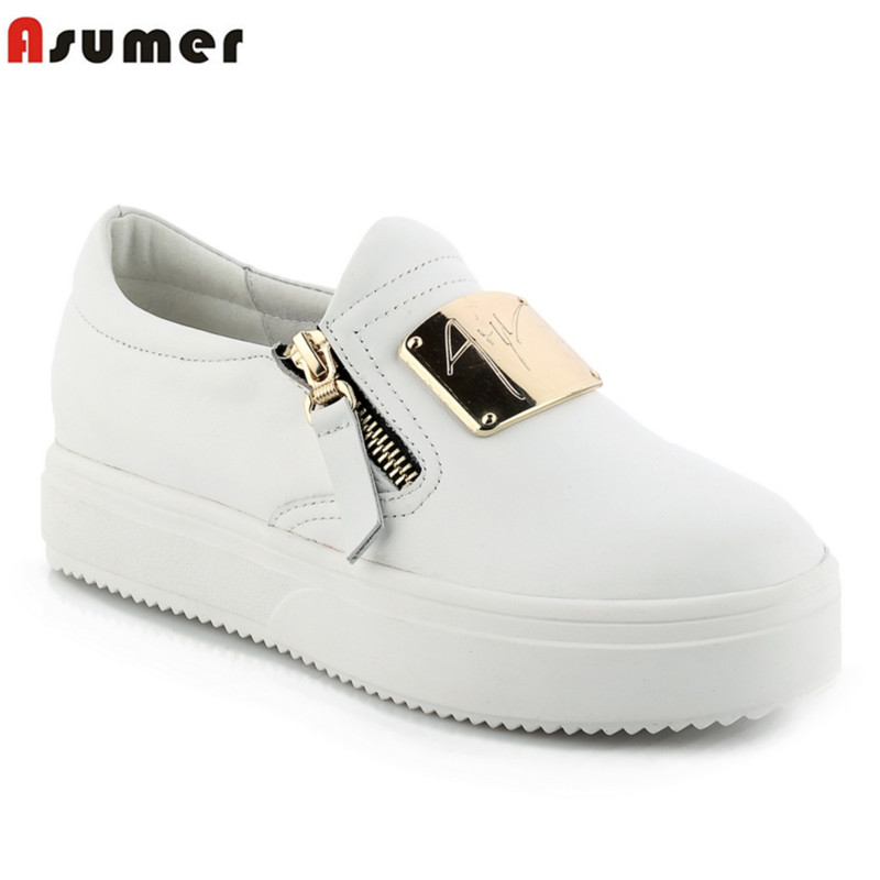 high quality loafers falts sequined round toe simple genuine soft leather slip on spring autumn casual flat shoes woman<br><br>Aliexpress