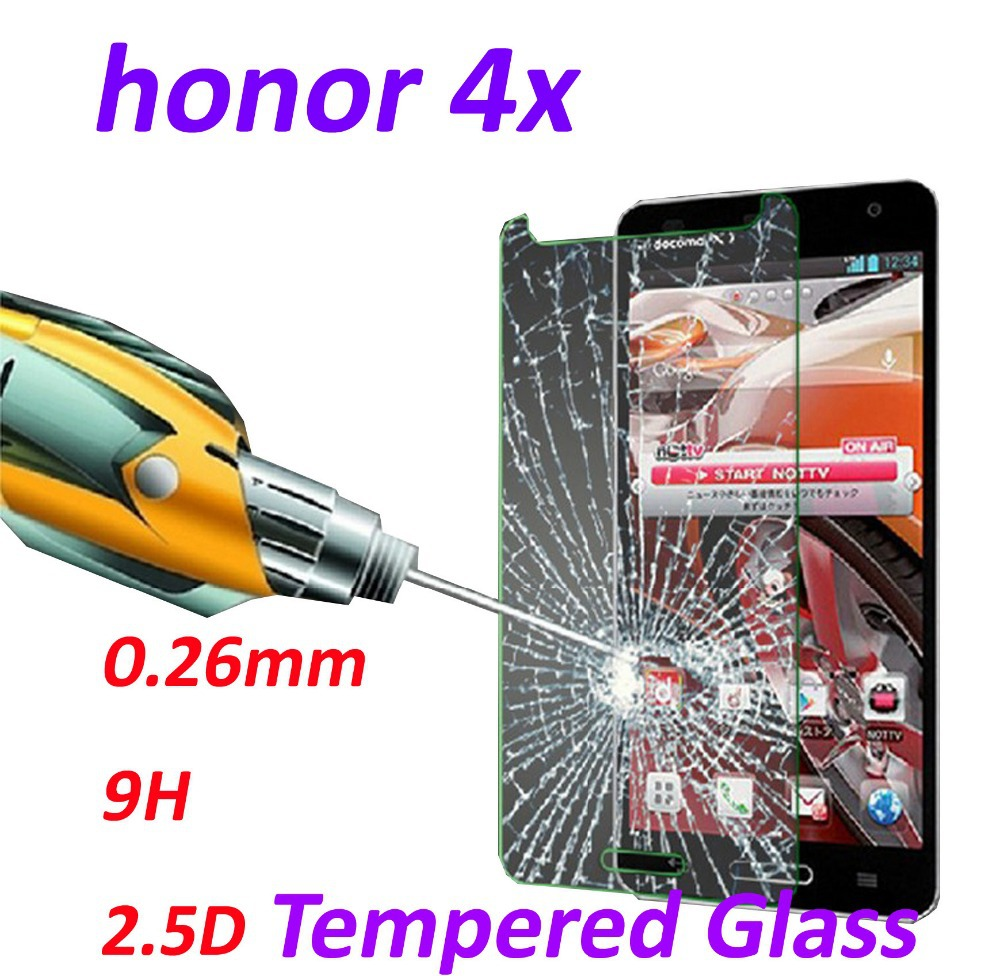 0 26mm 9H Tempered Glass screen protector phone cases 2 5D protective film For Huawei Honor